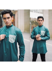 KURTA THE GRANDEUR in TEALGREEN